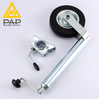 3 Direct Deal Boat Travel Spare Parts 48MM Clamp 1000lbs 2000lbs Caravan Trailer Jockey Wheel Trailer Jack with Single Wheel