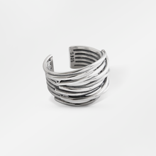 925 Sterling Zilver Retro Multi-layer <span class=keywords><strong>Lijn</strong></span> Kronkelende Vrouwen Ring