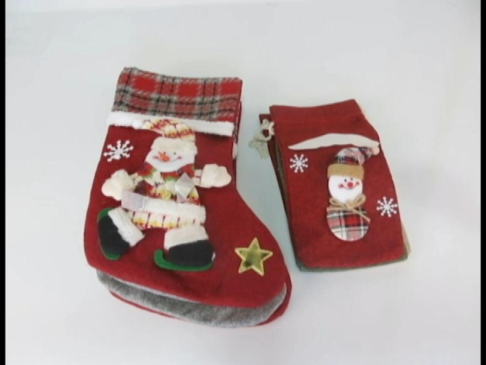 Christmas Presents Gift Bags Plaid Candy Bag Santa Deer Bear Xmas Dessert Cookie Bags Decorations Supply For Home Navidad 2019