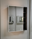Right Opening shelf bathroom cabinet mirror with light mirror cabinet aluminum soft closed hinges medicine cabinet Bluetooth