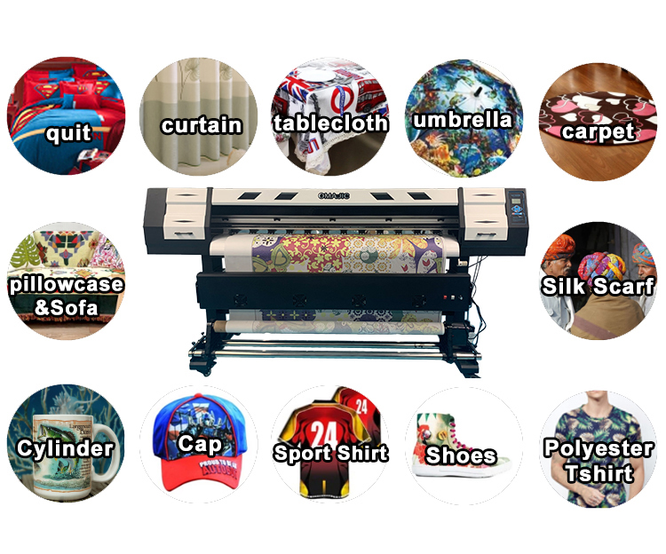 CMYK large format fabric printing machine 3d sublimation printer for sale
