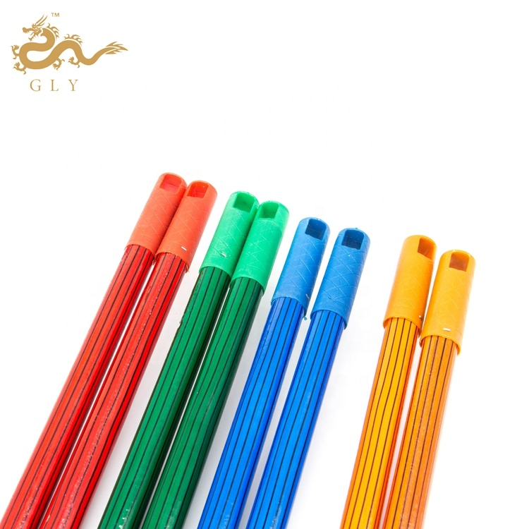 GLY  Chinese Factory Best Price Wood Grain Pvc Coated Wooden Broom Handle