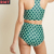 New Arrival Digital Printed Swimwear Suit High Waisted Bikini Bottoms