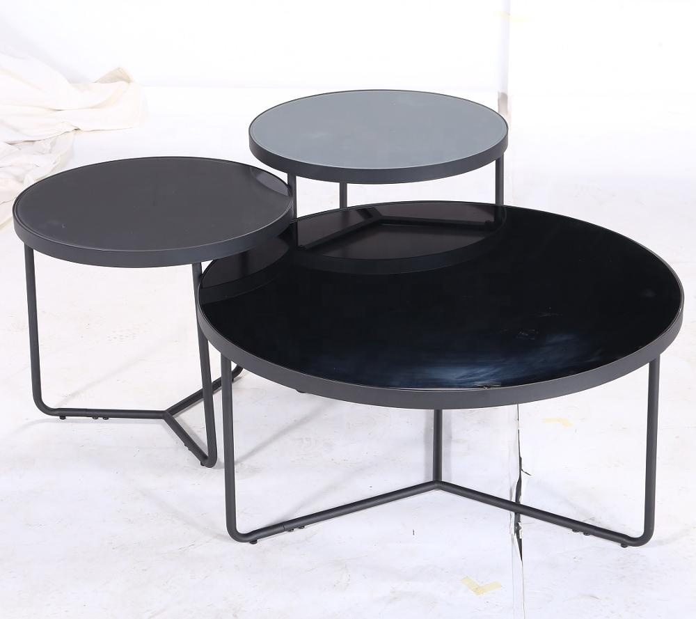 Sitting Room Furniture Space Saving Glass Top Table Basse Smart