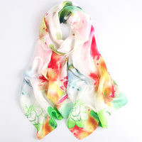 Wholesale Customized Digital Printing Long Silk Satin Scarf for Girls