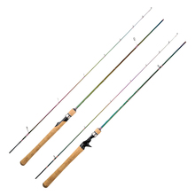 JOHNCOO 1,8 m 1,98 m 2,1 m Spinning Angelrute 2 Abschnitt L Angelruten Spinning Carbon Meer Baitcasting Angeln stange