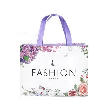 heat transfer customised non woven tote bag with no zip shopping cloth bag