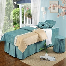 2019 nieuwe schoonheidssalon bed sets massage <span class=keywords><strong>beddengoed</strong></span> sets spa facial bed cover