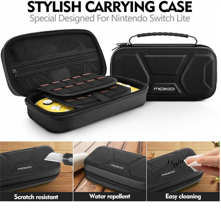 MoKo Portable Travel Storage Protective Carrying EVA Hard Cover Bag Shell Pouch Case for Nintendo Switch Lite