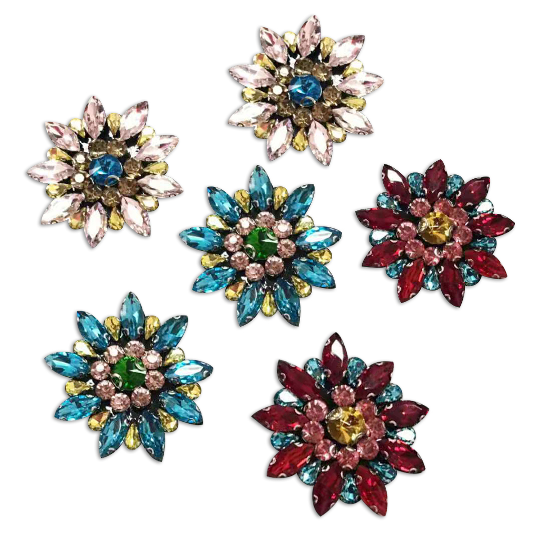 Snowflake stickers DIY handmade beaded patch cloth accessories