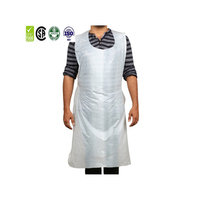 Promotion of disposable SWAP certified LDPE plastic cooking apron
