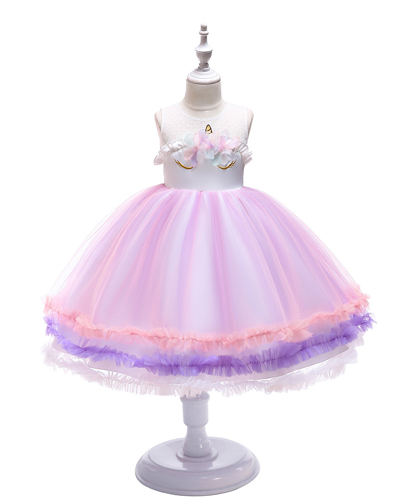 D0043 Summer Baby Frock <strong>Designs</strong> <strong>Girls</strong> Dress Names With Pictures Unicorn style <strong>Girl</strong> Party Dresses Wholesale