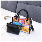 Bags Bag Hand Bag For Beach World Wholesale Large Beach Bags 2 In 1 Holographic Tote Bag PVC Handbag Shoulder Shopping Hand Bag For Ladies