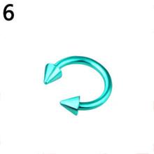 3 мм/1,2 мм Подкова фальшивый нос C зажим для пирсинга половина обруч Красочные для пирсинга, из хирургической стали украшения для живота, для ...(Китай)