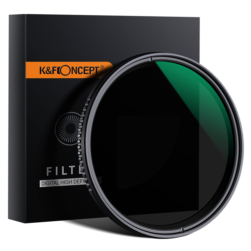 Filter Variabel ND8 ~ ND2000 K & F Konsep 49Mm untuk DSLR