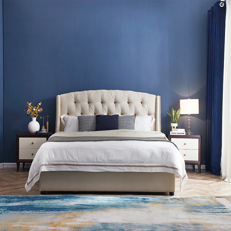 Modern upholstered princess beauty queen size <strong>bed</strong>