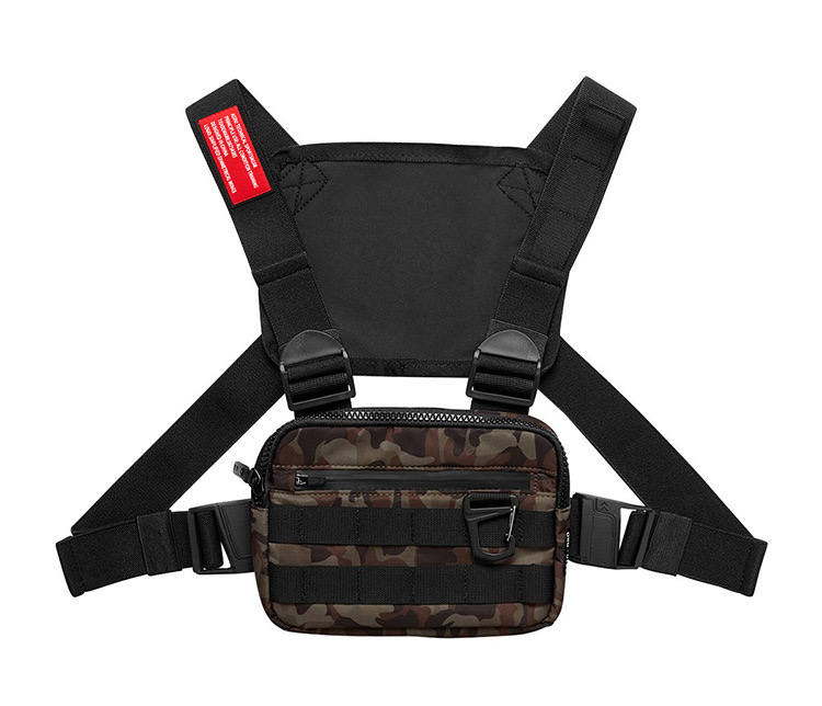 LOW MOQ can custom logo or brand waterproof camouflage chest bag