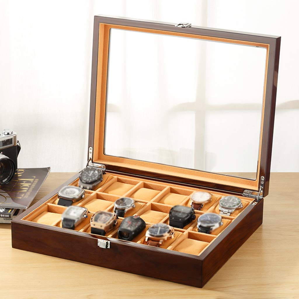 custom plain OEM 18 slot watch box packaging for womens