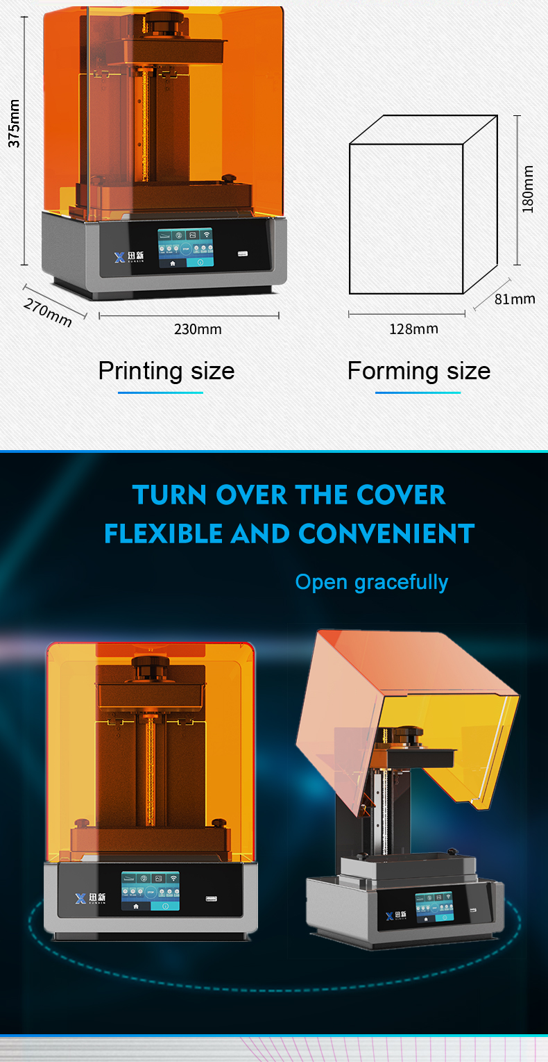 High precision LCD lighting Curving 3d sla printer China factory wholesale retailing