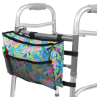 Walker Bag,Water Resistant Accessory Basket Provides Hands Free Storage for Folding Walkers,Attachment Fits Wide and Narrow