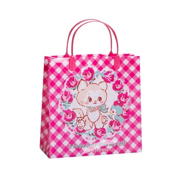 Wholesale plastic shopping packaging bags, hot sale folding gift handle bags, promotional supermarket tote package bag