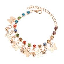 Новые цветные очаровательные браслеты для женщин и девушек, браслеты на лодыжки для девушек, браслеты с колокольчиком бабочки, женские модн...(Китай)