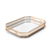 LULARINE Nordic Square Metal Tray Cosmetic Jewelry Storage Box Home Decoration Jewelry Display Mirror Tray