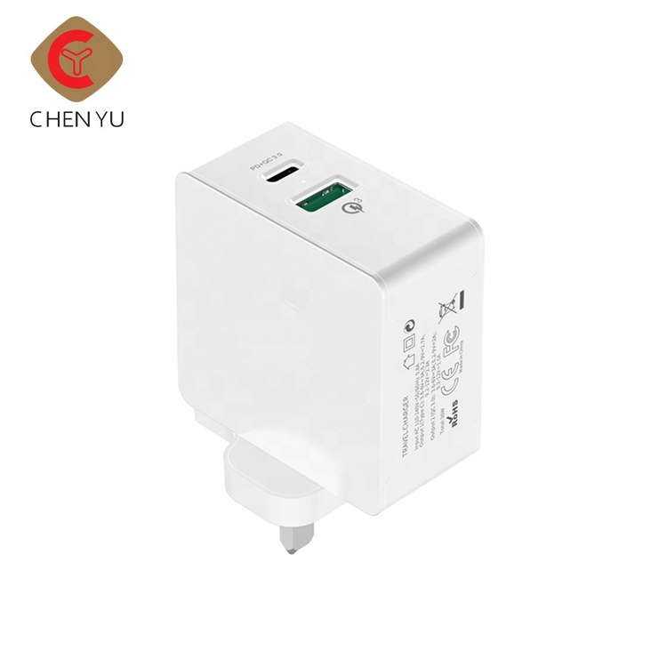 China wholesale custom mini portable Type C 3.0 power bank usb wall charger