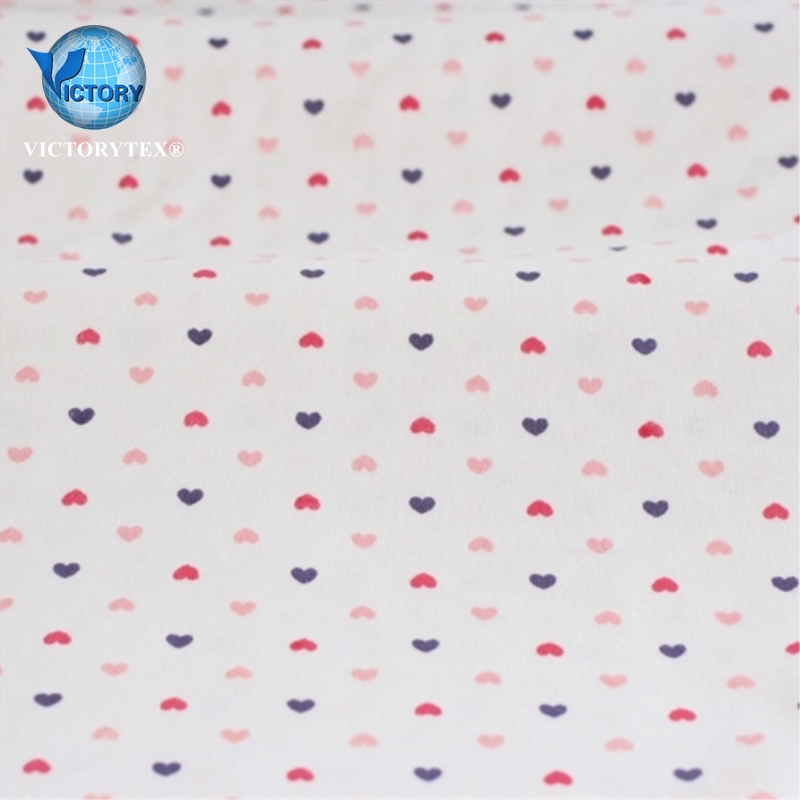 100 Cotton Feel Soft White Backer Reactive Printed Weft Interlock Kids Baby Interlock Fabric for Clothes Garment Clothes T-shirt