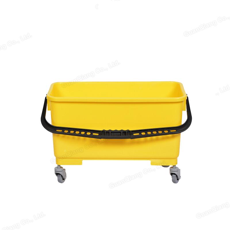 Новый дизайн Желтая Пластиковая Плоская Швабра чистящие ведра с колесами