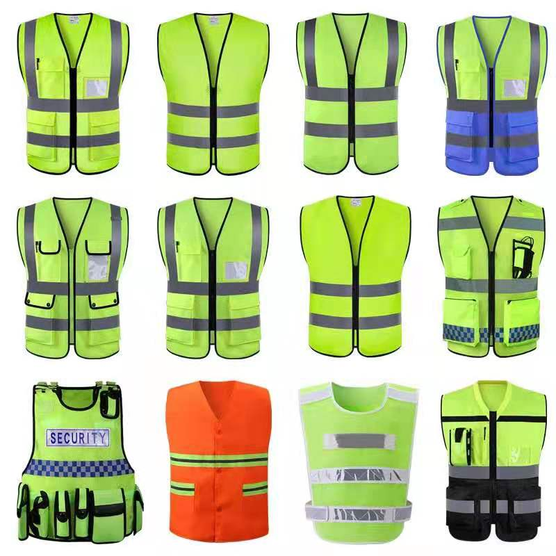High visibility reflective safety <strong>vest</strong> with free custom logo