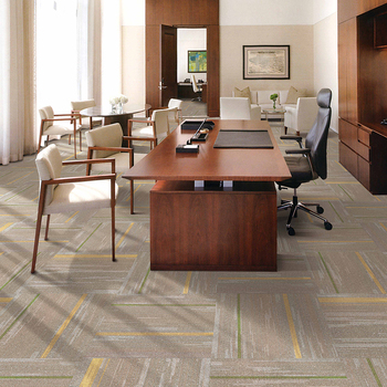 Indoor flooring event commercial rugs square plastic PP surface carpet with Bitumen backing