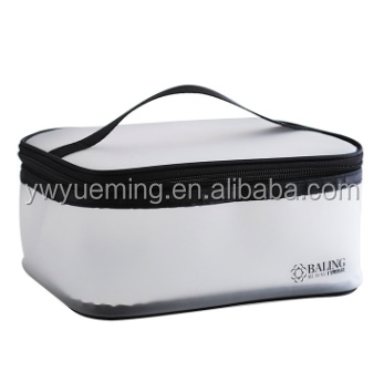 Portable large-capacity transparent TPU zipper travel waterproof multi-function storage makeup wash bag