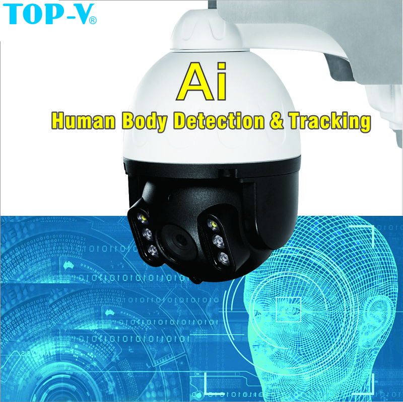 Solar Auto Tracking PTZ AI cloud speed dome 4x Electron zoom camera