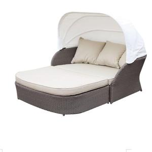 waterproof outdoor wicker poolside bed daybed with canopy