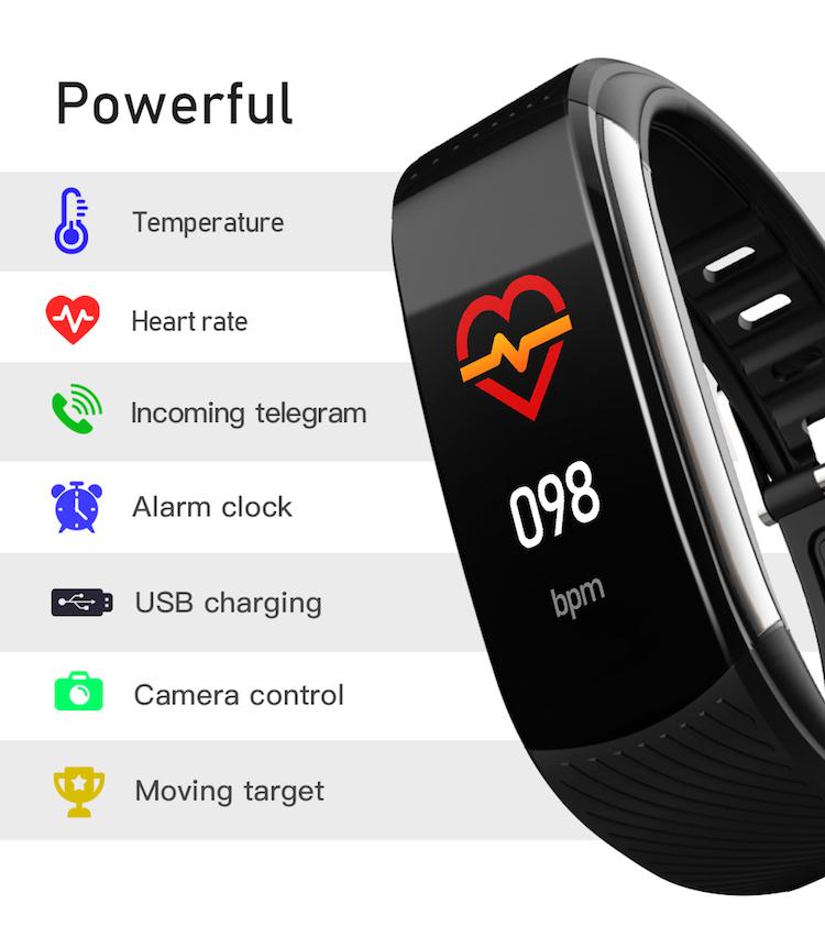 Cheap price sports bracelet fitness tracker band smart C6T temperature health smart wristband