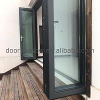 Unique style aluminium sliding folding doors details glass door