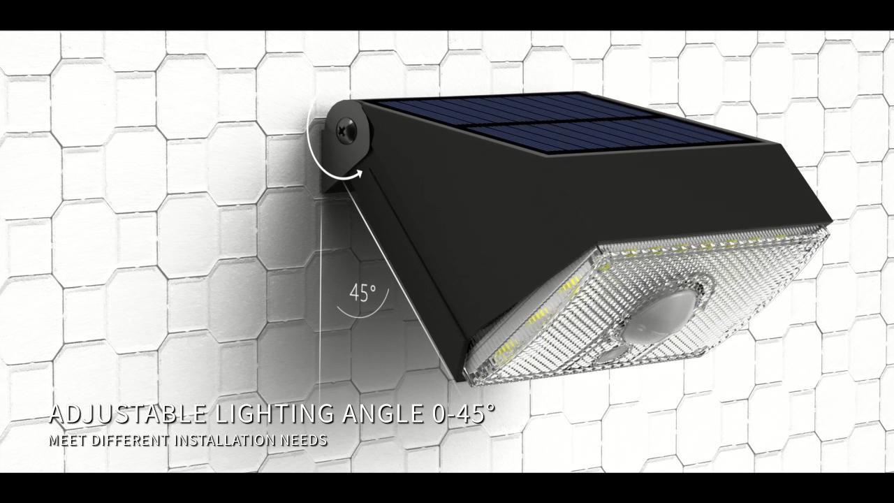 2020 SRESKY new design high power pir motion sensor led wall lamp outdoor garden solar light 10w for sale
