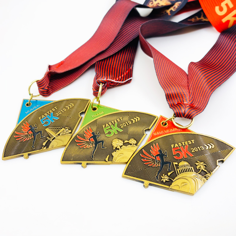2019 new cheap custom india running 5K sports medal