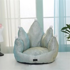 Wholesale Luxury Pets Sofa Crown shape Dog Cat Bed Comfortable Soft Washable