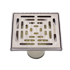 China Suppliers Bathroom Accessory Square Plastic Body Stainless Steel Cover Floor Drain