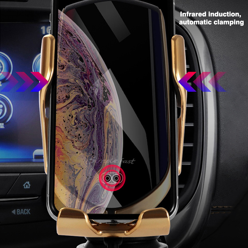 Intelligent infrared wireless car charger R1 phone holder in car