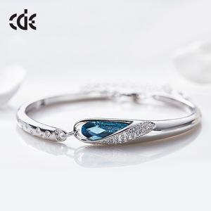 joyeria women pulseras de cristal pulseras de plata 925