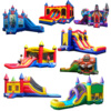 Mini bouncer inflatable castle with slide for children party, rental inflatable bouncy castle for sale