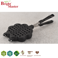 Waffle Maker Easy Clean Double Side Heating Non Stick Kitchen Die-Cast Aluminium Cake Breakfast Mould