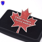 wholesale custom Canada country maple leaf series glitter hard enamel lapel pin for gift