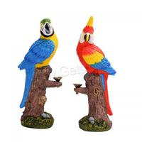 wholesale ceramic resin home decoration unique parrot design backflow incense burner 2019