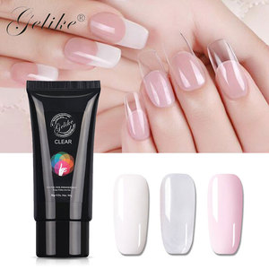 Uv/led private poly gel nails set nail gel polish nail extension