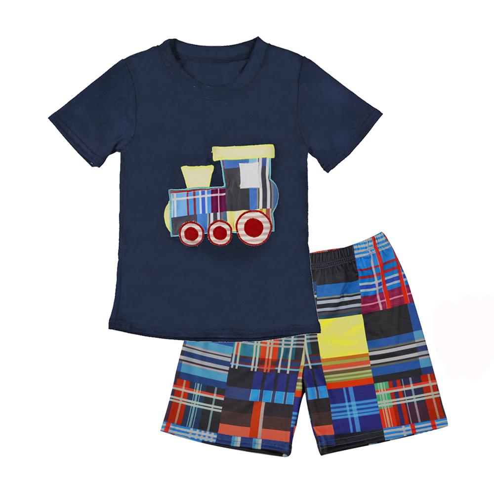 新到着夏の服の少年幼児服子供コットンベビー服販売ベビーセット男の子服セット