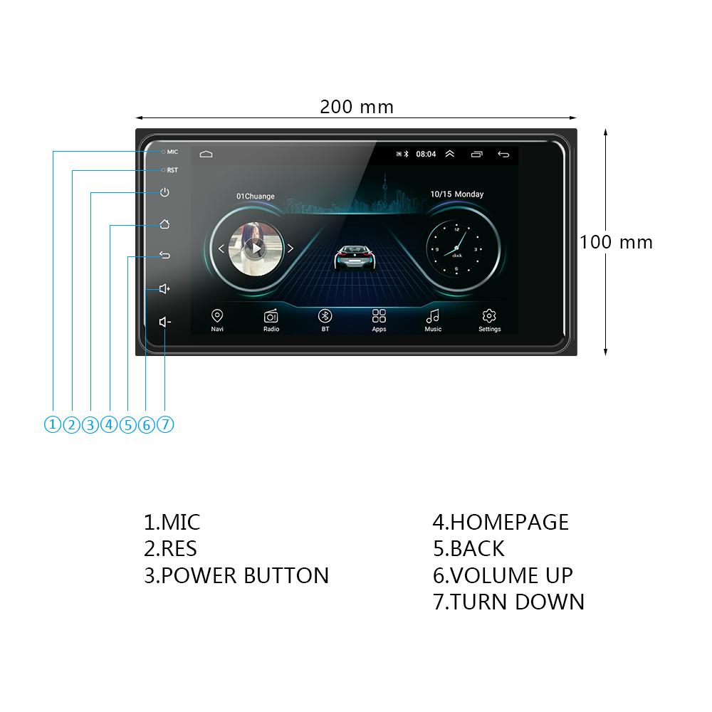 Podofo Android GPS WIFI Radio Mobil untuk Toyota Corolla Autoradio 7 Inci Layar Sentuh untuk Auto Carro Stereo